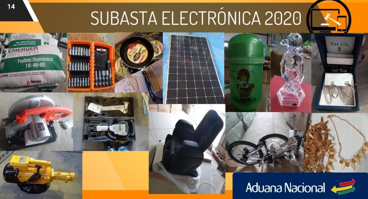 La Aduana Nacional organiza la Subasta Electrónica 2020. Foto: ABI