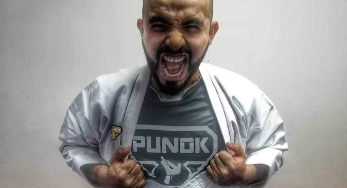 El karateca Ángel Sánchez. Foto: Facebook Angel Sanchez