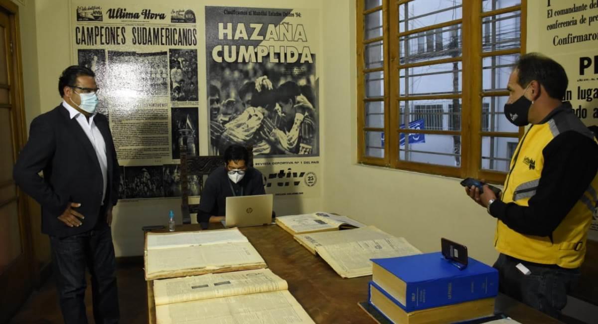 La Biblioteca Municipal brinda acceso a Hemeroteca Digital. Foto: ABI