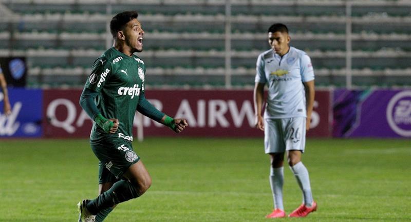 El Palmeiras le ganó a Bolívar. Foto: EFE