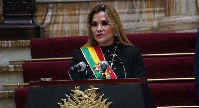 La presidenta Jeanine Áñez. Foto: EFE