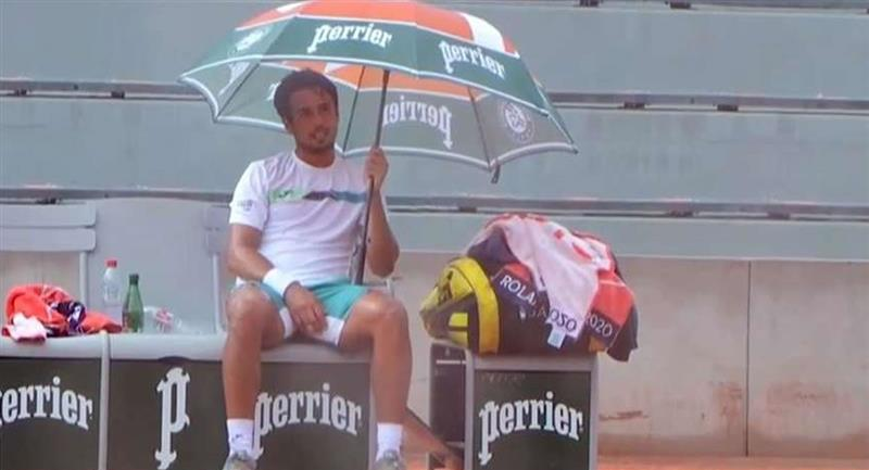 El boliviano se despide del Roland Garros. Foto: Twitter / Captura pantalla @ESPNtenis