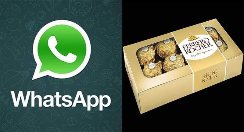 El engaño comienza con un mensaje en WhatsApp en el que se busca tentar a los usuarios con un supuesto regalo. Foto: WhatsApp y Ferrerorocher.com