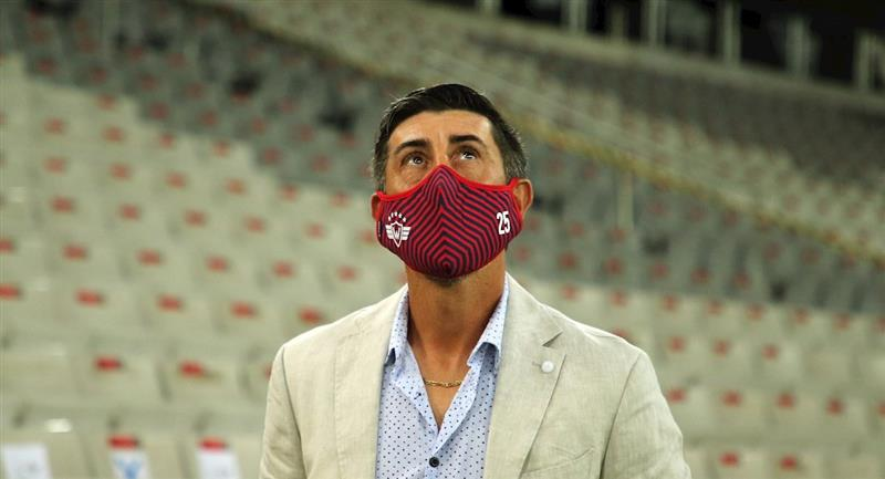 El técnico de Wilstermann, Cristian Díaz. Foto: EFE