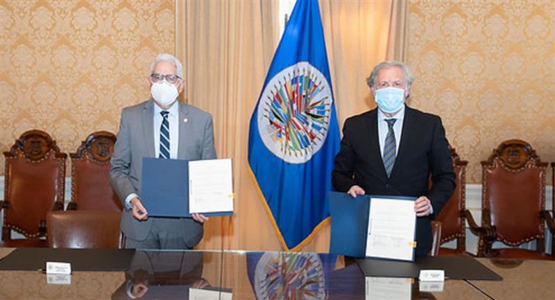 La OEA y Bolivia suscribieron un acuerdo para la observación electoral para los comicios generales. Foto: ABI