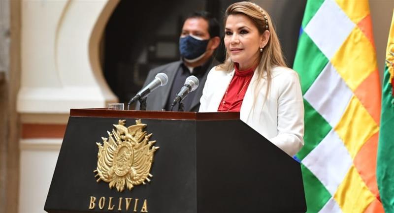 La presidenta de Bolivia, Jeanine Áñez. Foto: ABI