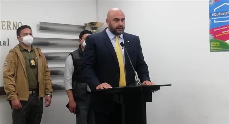 El viceministro de Régimen Interior y Policía, Javier Issa, dio a conocer la información. Foto: ABI