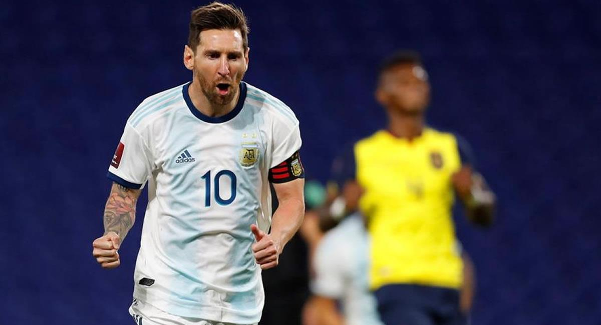 Lionel Messi celebrando el gol anotado. Foto: EFE