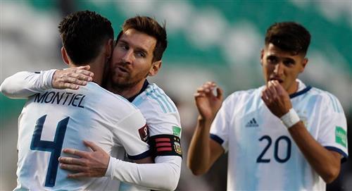 Argentina vence 1-2 de remontada en La Paz, suma 6 puntos y hunde a Bolivia