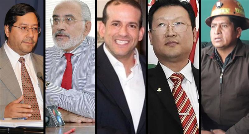 Candidatos a la Presidencia de Bolivia. Foto: ABI y Twitter @Almagro_OEA2015