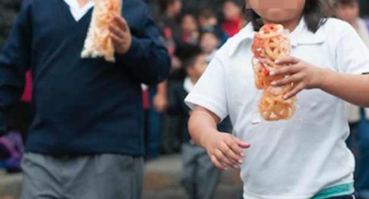 Más de 35% de la población estudiantil sufre de sobrepeso. Foto: ABI