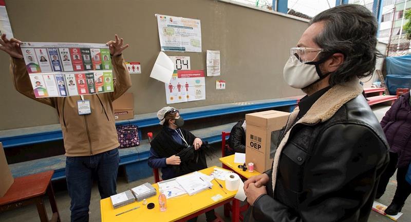 Elecciones generales en Bolivia. Foto: EFE