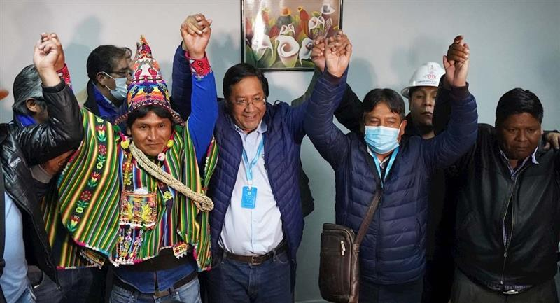 Luis Arce sería elegido presidente de Bolivia. Foto: EFE