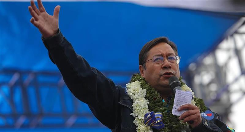 Luis Arce, presidente electo de Bolivia, según sondeos. Foto: EFE