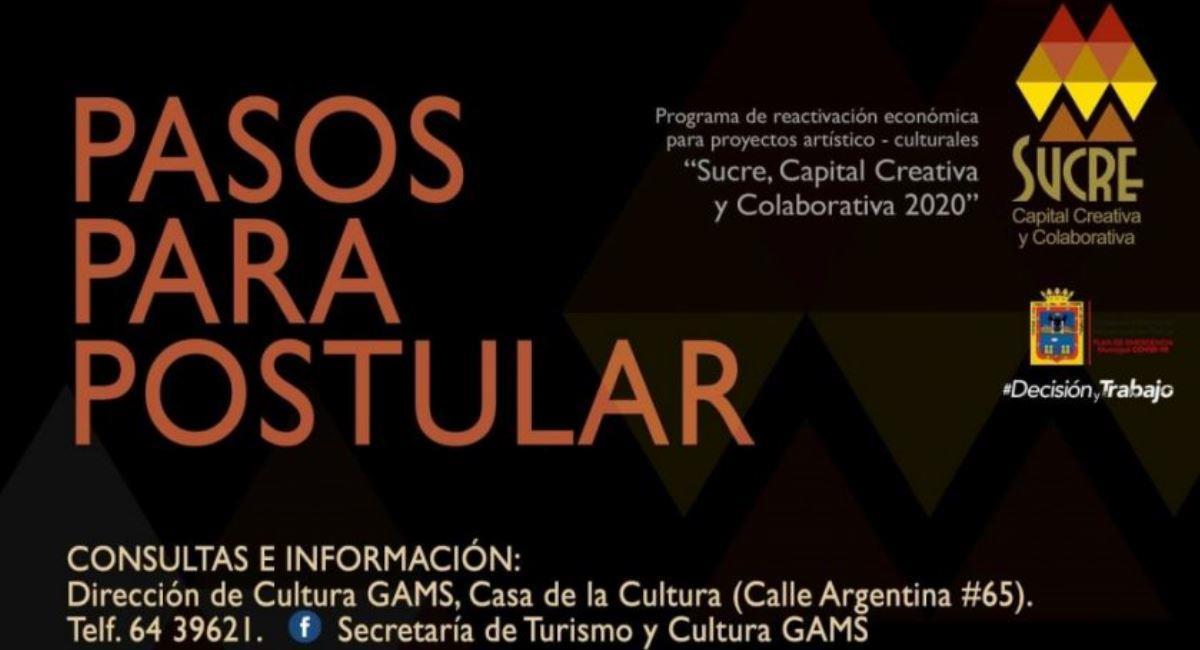Sucre invertirá en proyectos culturales a través del programa 'Sucre Capital Creativa y Colaborativa'. Foto: ABI
