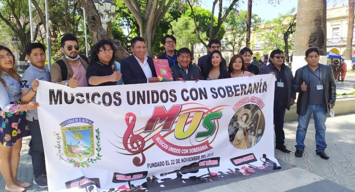Los músicos bolivianos propondrán la restitución del Ministerio de Culturas. Foto: ABI