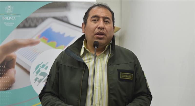 El ministro de Seguridad Ciudadana, Wilson Santamaría, dijo que solicitará una explicación a la Justicia. Foto: ABI