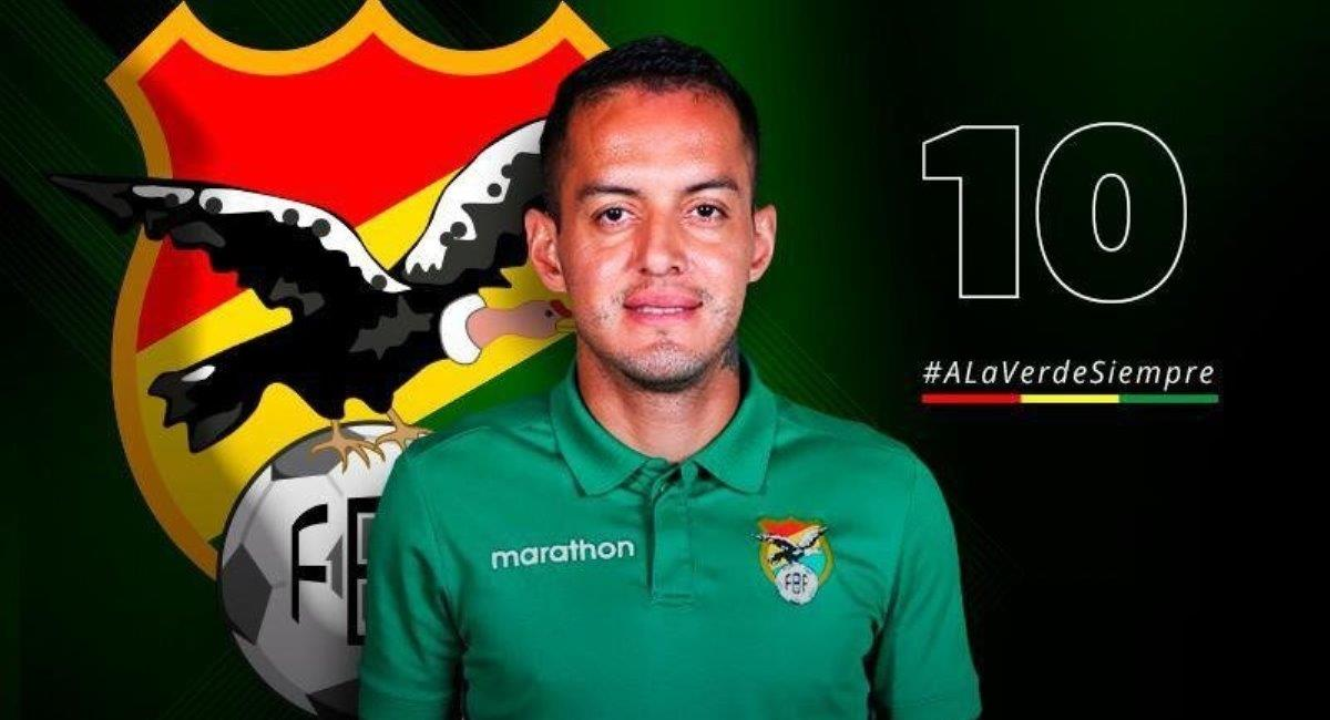 El futbolista Jhasmani Campos. Foto: Twitter @laverde_fbf