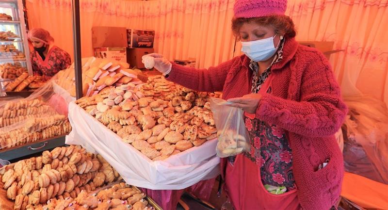 Bolivia se prepara con los tradicionales panes para la festividad de Todos Santos. Foto: EFE
