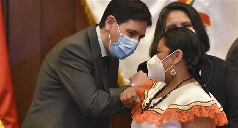 """Para Cecilia Moyoviri, llegar al Parlamento boliviano ha sido """"una lucha"""". Foto: EFE"""
