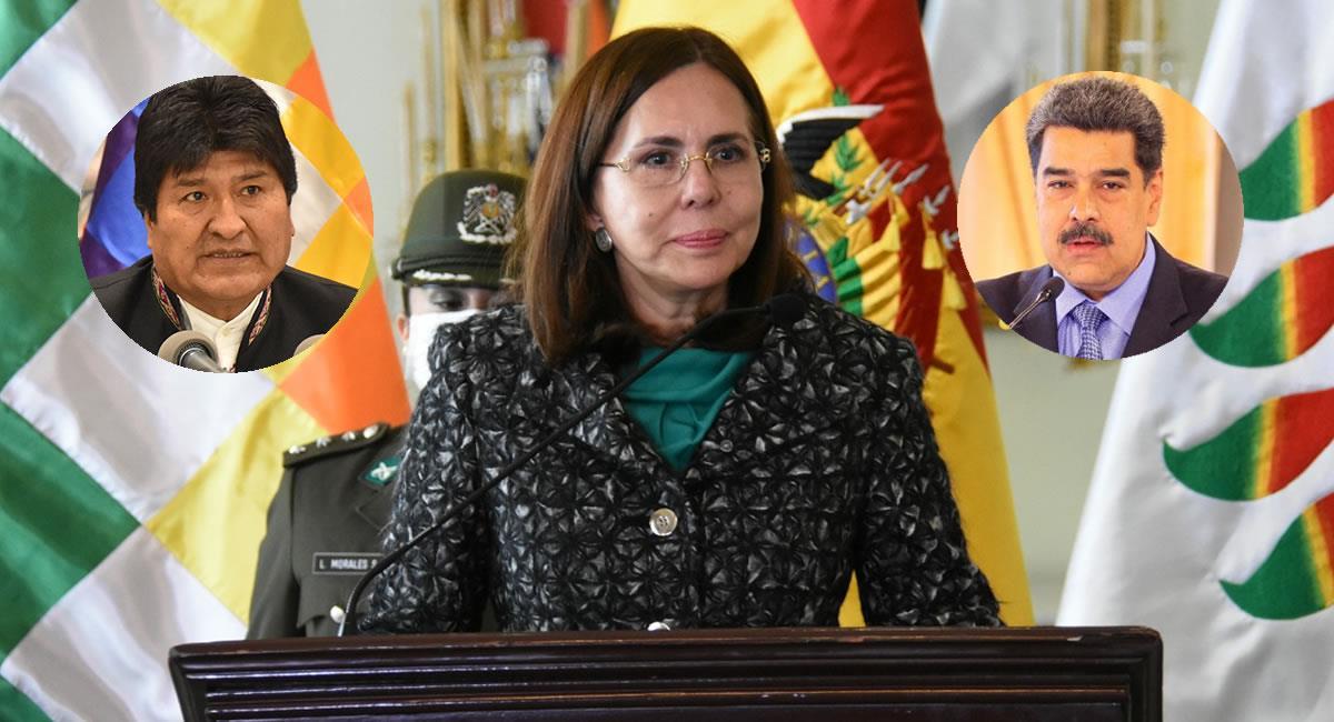 Ambas autoridades no serán invitadas a la posesión de Luis Arce. Foto: ABI y Twitter @NicolasMaduro