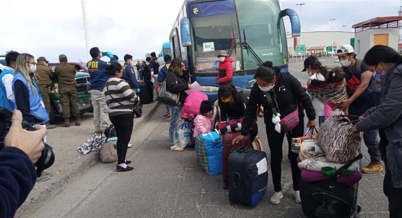 21.043 compatriotas bolivianos que regresaron al país. Foto: ABI