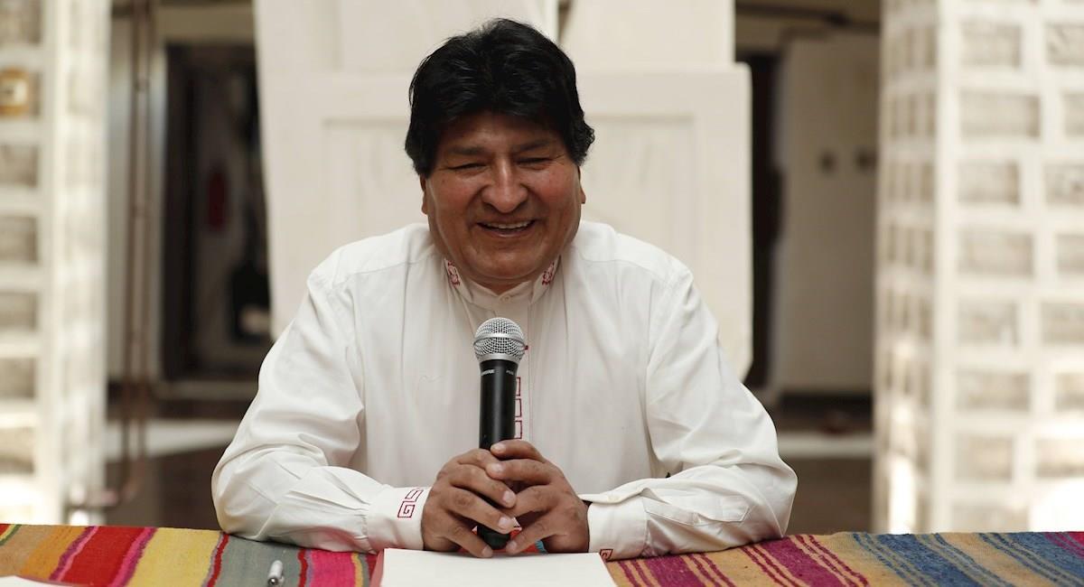 El expresidente de Bolivia, Evo Morales, en una conferencia de prensa en Uyuni. Foto: EFE