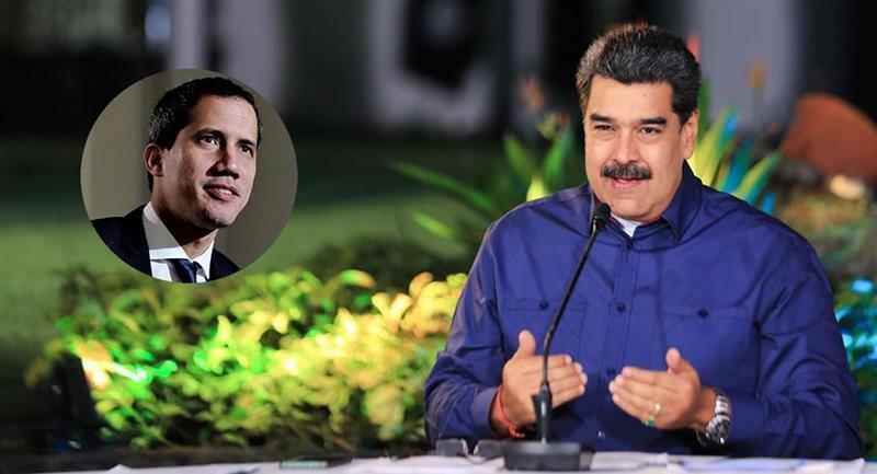 El Gobierno interino que Guaidó dice presidir no ha reaccionado a la noticia. Foto: EFE y Twitter @jguaido