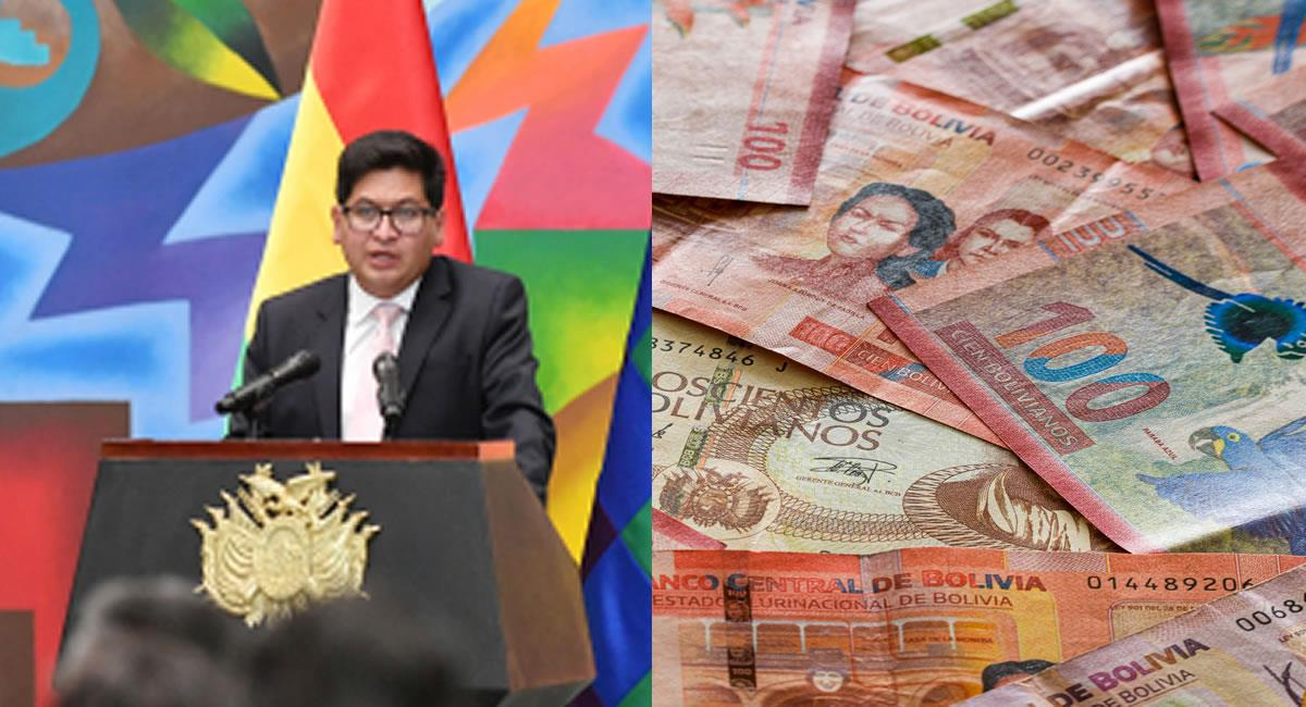 Ministro de Economía, Marcelo Montenegro. Foto: ABI y Shutterstock