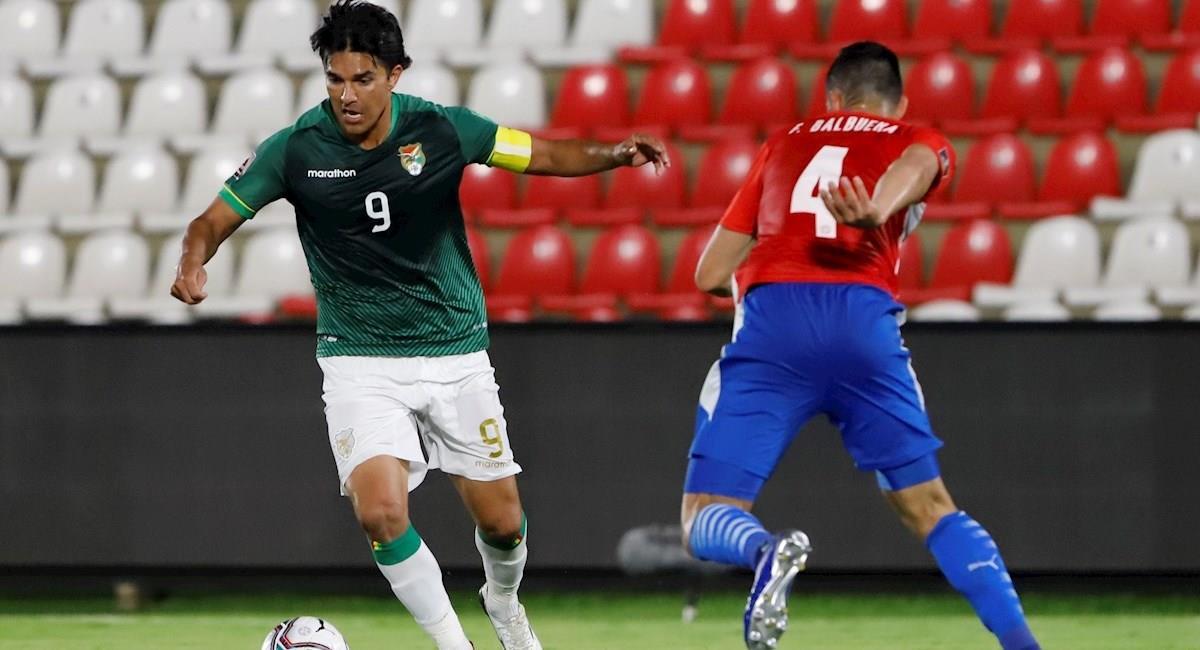 Marcelo Martins hizo un tanto contra Paraguay que lo convirtió en el goleador histórico de la Verde. Foto: EFE