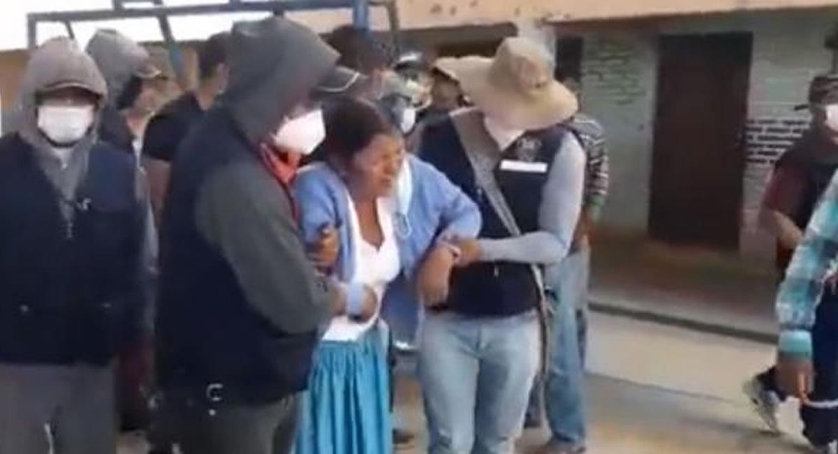 El conflicto tuvo lugar en el municipio de Sipe Sipe, a unos 27 kilómetros de la ciudad de Cochabamba. Foto: Youtube Captura de video Unitel Bolivia