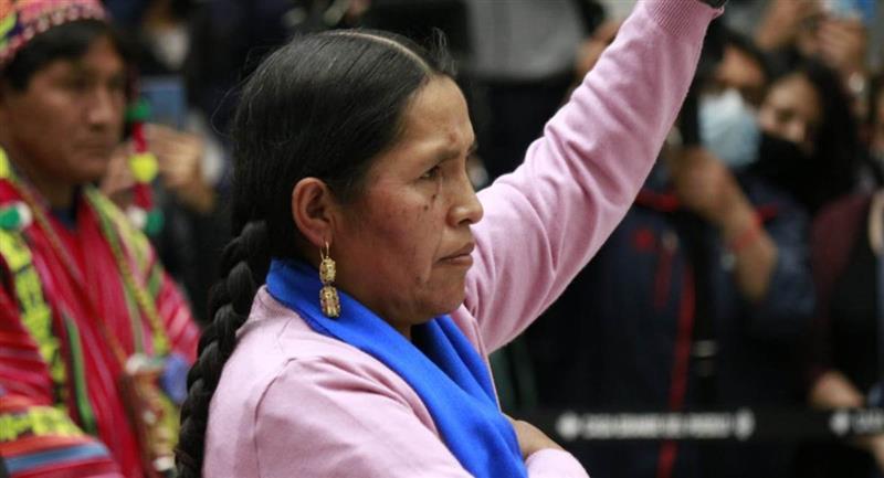 La ministra de Culturas, Descolonización y Despatriarcalización, Sabina Orellana. Foto: ABI