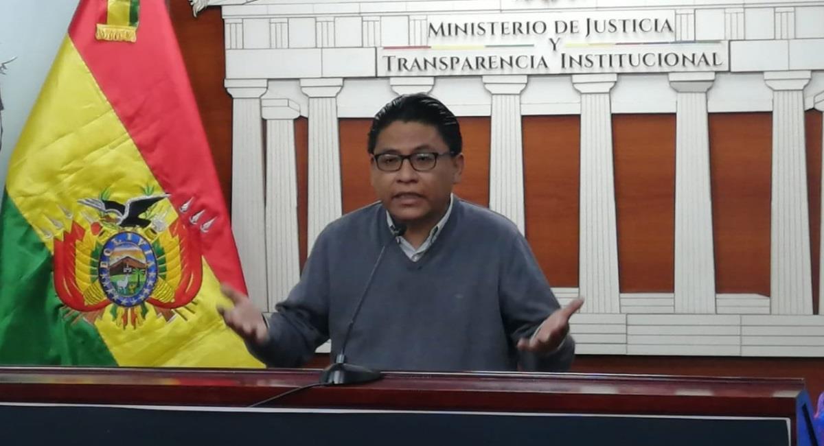 El ministro de Justicia, Iván Lima. Foto: ABI