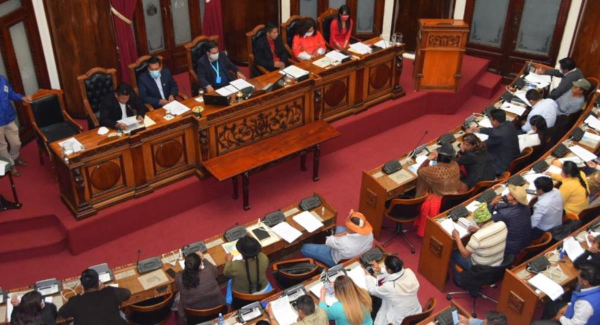 Cámara de Senadores. Foto: Twitter @SenadoBolivia