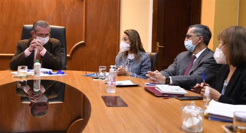 El ministro de Salud se reúne con la OPS/OMS Bolivia. Foto: Twitter @MinSaludBolivia