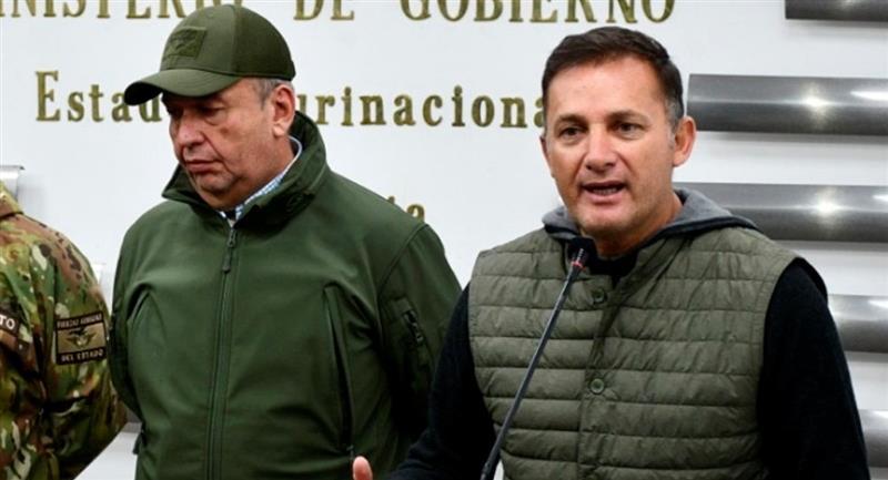 Los exministros Arturo Murillo y Luis Fernando López. Foto: ABI