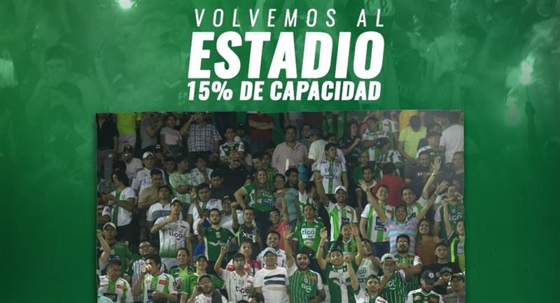 El partido entre Oriente Petrolero y Bolívar tendrá público. Foto: Facebook @cdopetrolero