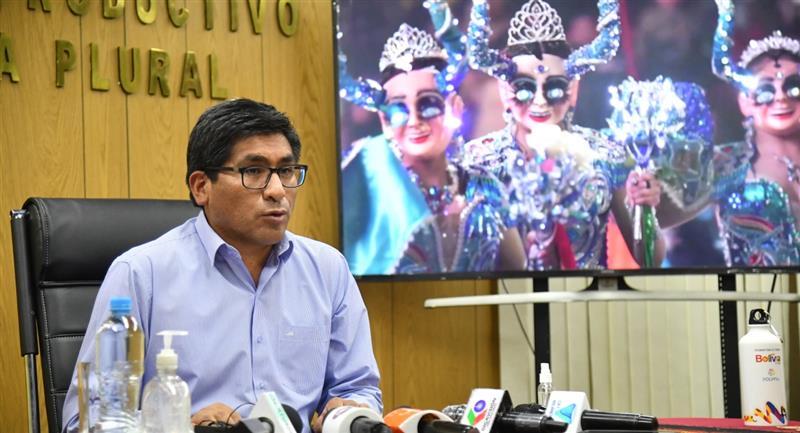 El ministro de Desarrollo Productivo y Economia Plural lanzó el DS 4400 para promover el turismo. Foto: ABI