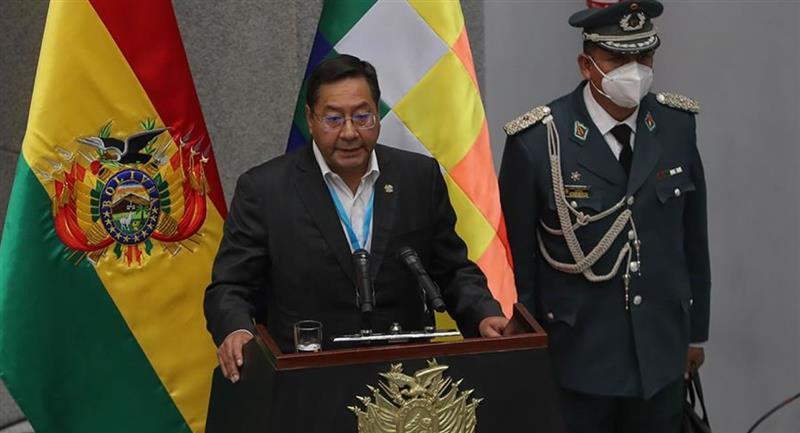 Presidente de Bolivia, Luis Arce. Foto: EFE