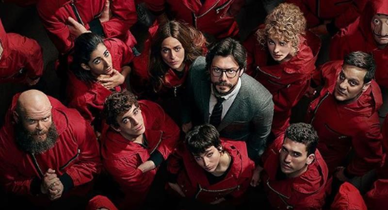 El elenco se prepara para la quinta temporada de 'La Casa de Papel'. Foto: Instagram @lacasadepapel