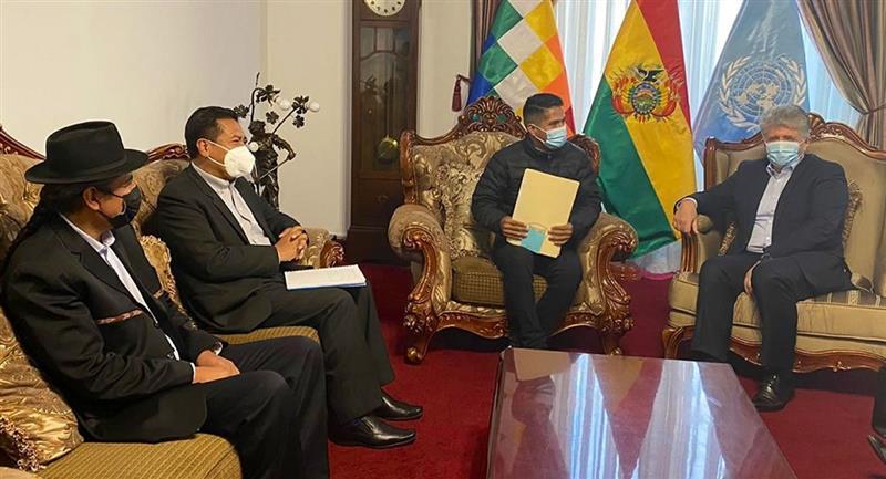 Acompañamiento de ese organismo multilateral en el proceso de consolidación de la cultura de paz en Bolivia. Foto: ABI