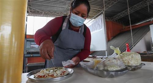 Pizzas contra la pobreza del coronavirus en Bolivia