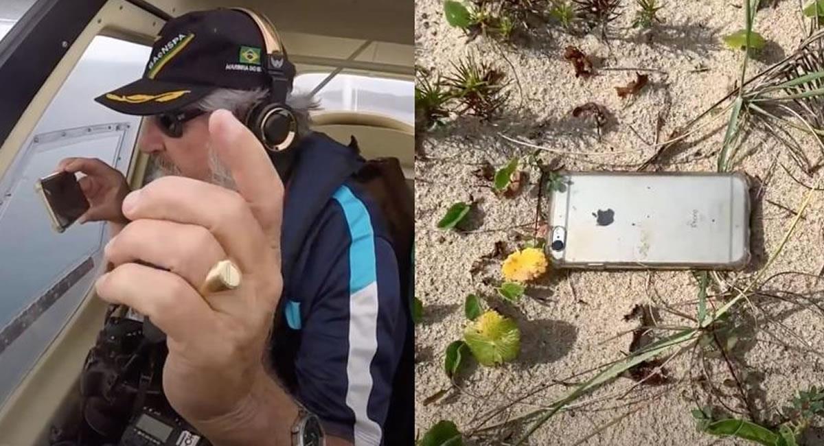 El iPhone 6S siguió funcionando después de la intensa caída. Foto: Youtube Captura de video / Canal Ernesto Galiotto
