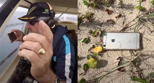 iPhone cae desde un avión, graba la caída de 300 metros y sigue funcionando tras impactar contra el suelo