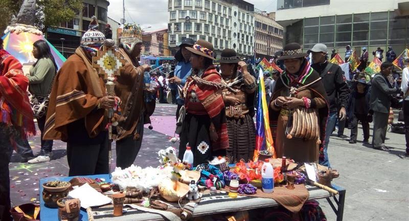 Fiesta del Illapacha de los Andes. Foto: ABI