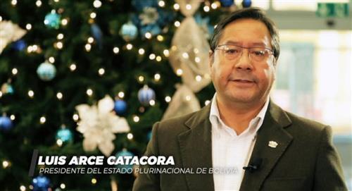 Arce hace un llamado a la paz y reconciliación entre bolivianos para garantizar la reconstrucción del país