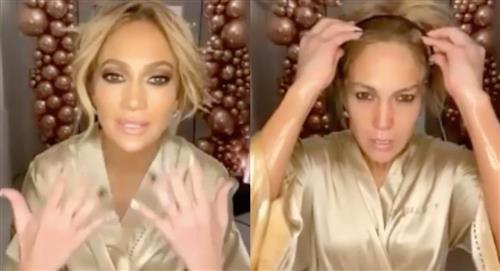 Jennifer López se desmaquilló ante las cámaras para presumir su rostro al natural y sin ediciones
