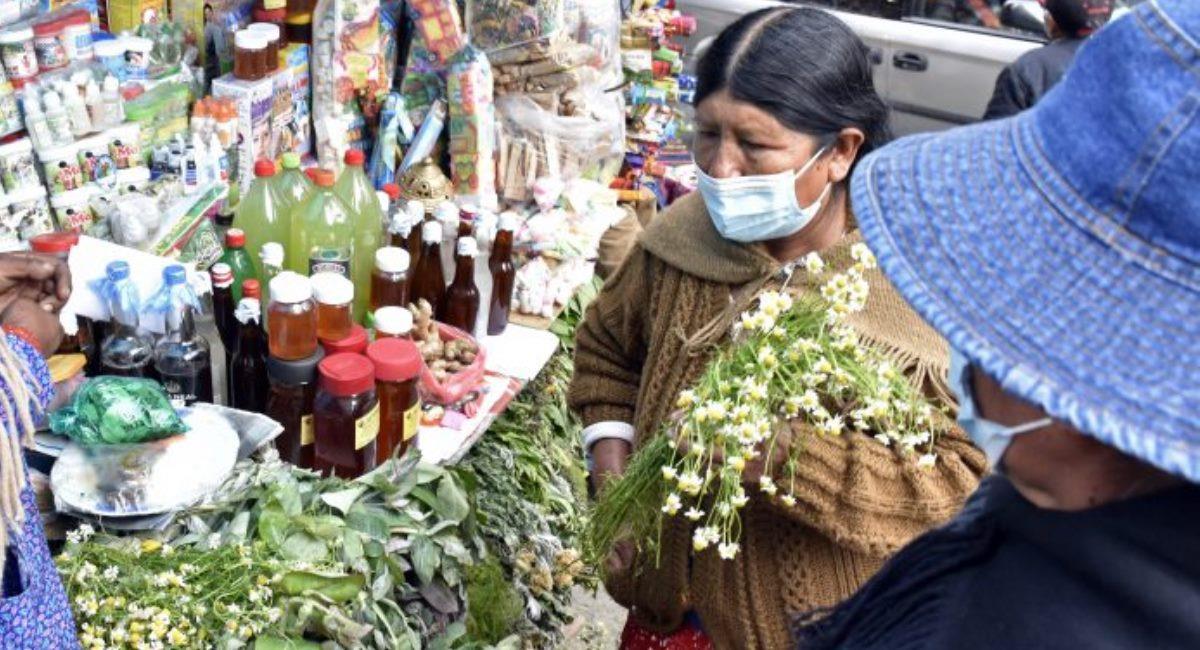 La población consume plantas medicinales para prevenir y tratar la COVID-19. Foto: ABI