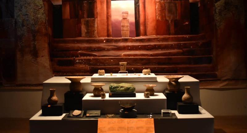 Piezas arqueológicas encontradas en Tiahuanaco. Foto: ABI