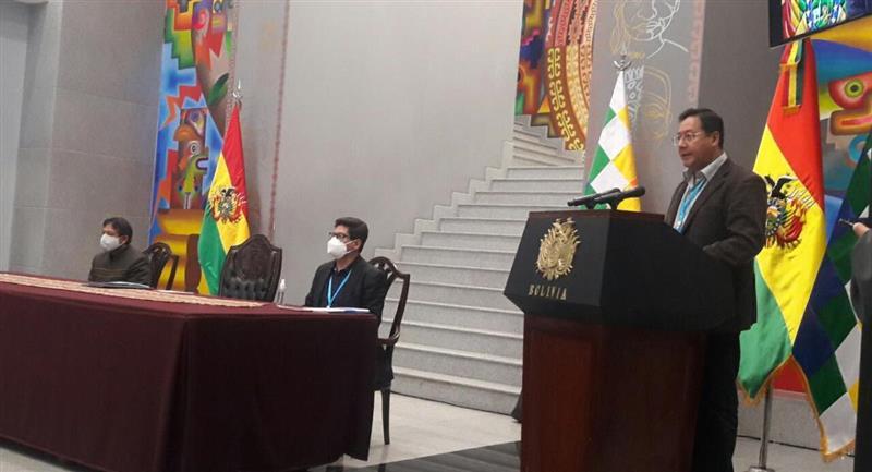 El presidente Luis Arce. Foto: ABI
